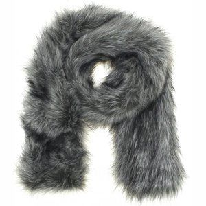 A New Day Faux Fur Stole Cold Weather Scarf Grey